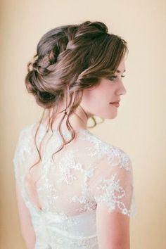 Attractive Braided Bridal Updo Medium Length 3-tender-romantic-we