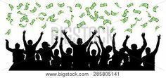 Money Falls On Crowd Vector & Photo (Free Trial) | Bigstock