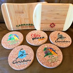 Bamboo Cutting Boards & Cork Coasters customized with logos using the LogoJET printer. 3d Paper, Paper Crafts, Sign Design, Print Design, New Things To Try, Cork Coasters, Bamboo Cutting Board, Cutting Boards, Glass Ceramic