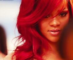 Rihanna Red she looks the best with this hair