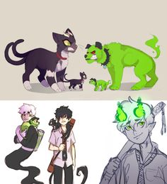 Danny Phantom and Blue Exorcist crossover - I LOVE THIS TO MUCH!!!