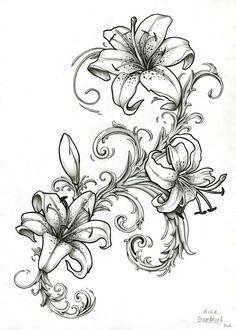 ... Tattoo Tattoo Inspiration Sleeve Tattoos Wiccan Tattoo Lily Tattoo