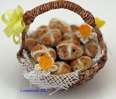 Hot Cross buns basket