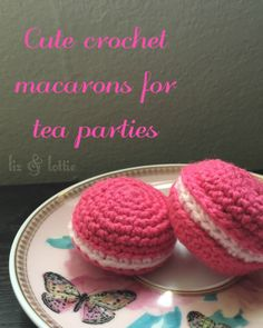 free pattern for crochet macarons