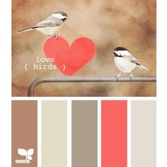 coral, taupe, and ivory! Official wedding colors!