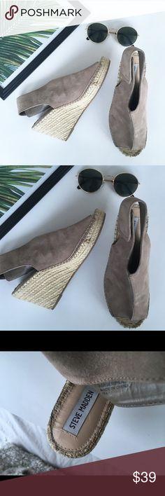 NUDE STEVE MADDEN PLATFORM SANDALS ESPADRILLES Like new ! Amazing condition ! ❤️ Steve Madden Shoes Espadrilles
