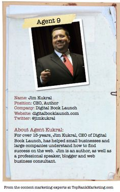 Bio for Secret Agent #9 @jim kukral  to see his content marketing secret visit tprk.us/cmsecrets