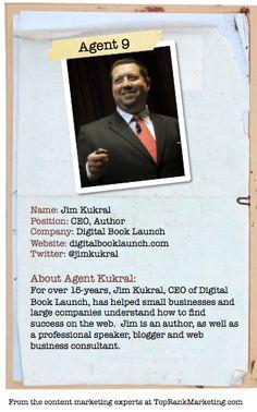 Bio for Secret Agent #9 @jim kukral  to see his content marketing secret visit tprk.us/cmsecrets