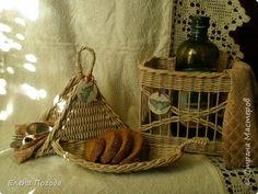 Поделка изделие Картонаж Плетение Немного плетения и первый опыт картонажа Картон Ткань Трубочки бумажные фото 1