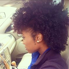 Beautiful Fro Hawk cant wait till I get my length back to do this