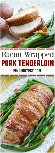 See how easy it is to make this delicious bacon wrapped pork tenderloin for Easter dinner or any time of year. This a great alternative to ham!