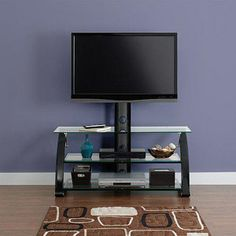 """Sparta Glass and Metal TV Stand for TVs up to 55"""""""