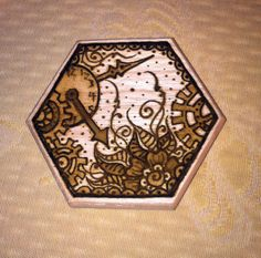 Work in Progress: Steampunk Henna Designs on Wood Box Top. Real Tattoo, Wood Boxes, Henna Designs, Steampunk, Top, Painting, Comic Con, Henna Art Designs, Wooden Crates