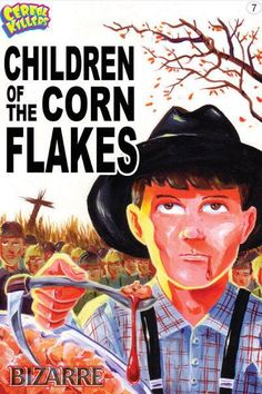 Cereal Killers Horror themed cereal box art by Joe Simko Children of the Corn Flakes
