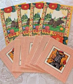 Lot-of-11-Mary-Engelbreit-Scottie-Terrier-Dog-Note-amp-Greeting-Cards-1995-1999