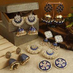 Buy Ultra Pretty Ethnic Earrings Online Now Indian Jewelry Earrings, Buy Earrings, Jewelry Design Earrings, Earrings Online, Bridal Jewelry, Antique Jewellery Designs, Fancy Jewellery, Indian Jewellery Design, Stylish Jewelry