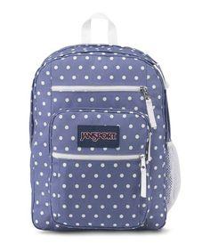 JanSport Big Student Backpack - Bleached Denim/White Dot