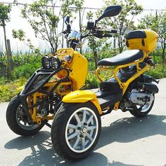 Browse many of my favorite builds - custom scrambler designs like this Three Wheel Motorcycles, 3 Wheel Motorcycle, Trike Scooter, Trike Bicycle, 3 Wheel Scooter, Drift Trike, Motorized Trike, E Quad, Quad
