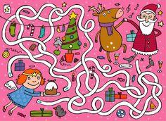 Anja Boretzki: Benni 12/13 Mazes For Kids, Crafts For Kids, Christmas Crafts, Xmas, Religion Catolica, Pre Writing, Pre School, Preschool Activities, Paper Dolls