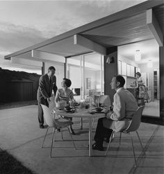 Dining by Moonlight 1960 | Terra Linda, CA | Photo: Ernest Braun