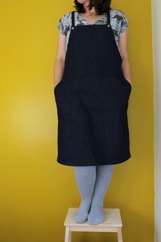 Marilla Walker: NEW PATTERN - ROBERTS PATTERN - VIEW C - DUNGAREE DRESS & VIEW D - WOVEN T-SHIRT