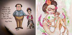 22 Ilustradores de todo el Mundo rinden homenaje a Frida Kahlo