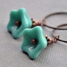 Vintage inspired floral earrings