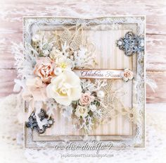 Paper Love Affair, Card with flowers