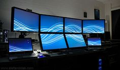 I totally need this! 3 of my 4 monitors have died... and that setup was never as amazing as this!!