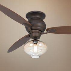 "60"" Casa Spyder Amber Glass - Bronze Ceiling Fan - #R4216-T2680-2P425 | LampsPlus.com"