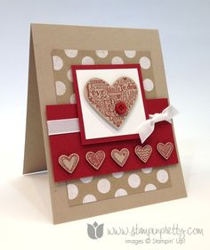 Stampin up stamp it up free occasions catalog language of love handmade card diy pretty valentines day