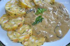 Omáčka zo sušených húb (fotorecept) - recept   Varecha.sk Meat, Chicken, Food, Beef, Meal, Essen, Hoods, Meals, Eten