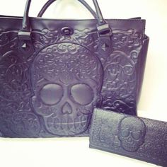Skull Purse and Wallet