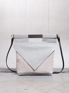 LT GREY SLIM bag by CHIYOME