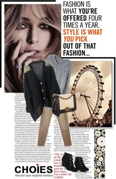 """Fashion is not something that exists only in dresses, fashion is in the sky in streets, Fashion has to do with ideas, the way we live, what is happening..."" by rukhyy ❤ liked on Polyvore"