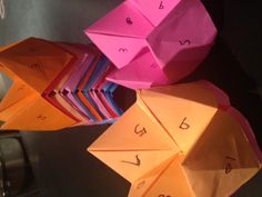 Fortune Tellers for Valentines Day.