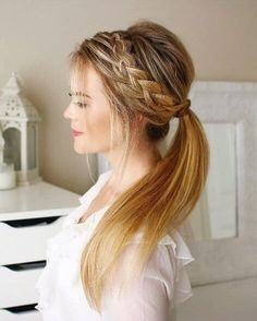Show off your beautiful blonde lengths with a loose princess plait resembling a dainty crown #blondehair #hairstyle #braids