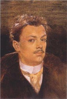 Self Portrait as a Young Man by Koloman Moser (Austrian, 1868–1918)