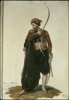 Sous-lieutenant de chasseurs algériens, 1833