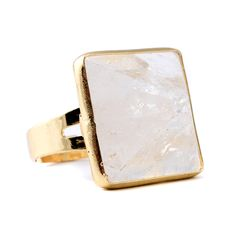 Janna Conner Ayaan Rock Crystal Statement Cocktail Ring.