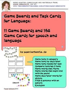 http://www.teacherspayteachers.com/Product/Game-Boards-Cards-for-Language-Bundle_speech-therapy_special-education-827272: $  168 cards for language practice and a variety of game board with lots of year-round themes