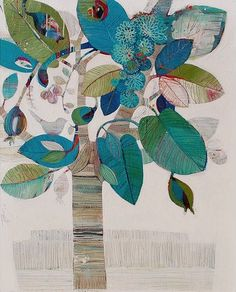 """Painting - Abstract Art by Tiffany Calder-Kingston """"Halo"""" at Tusk Gallery Art And Illustration, Arte Naturalista, Arte Floral, Art Plastique, Tree Art, Oeuvre D'art, Painting Inspiration, Collage Art, Flower Art"""