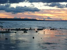 sunset at Craigleith, Ontario