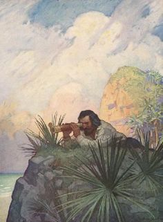 Sighting: robinson crusoe illustrated by nc wyeth - Google Search