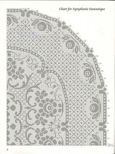 Овальная скатерть Фантастическая симфония крючок схема 2