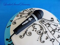 Not fancy on the microphone, but love the detailed music notes!