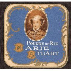 Vintage Powder Box Label Poudre de Riz Marie Stuart  .. ......................................................♥.....Nims.....♥