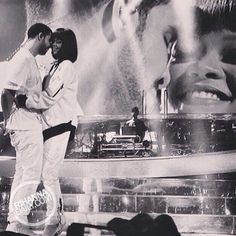 Rihanna joins Drake on stage in Paris - February 25, 2014 (Fan Pictures) - 001 - Rihanna Daily Photo Gallery - 24/7 Source for Miss Rihanna