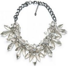 Brand Jewelry Luxe Crystal Floral Choker Necklace