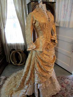 Early 1880s Silk Dress